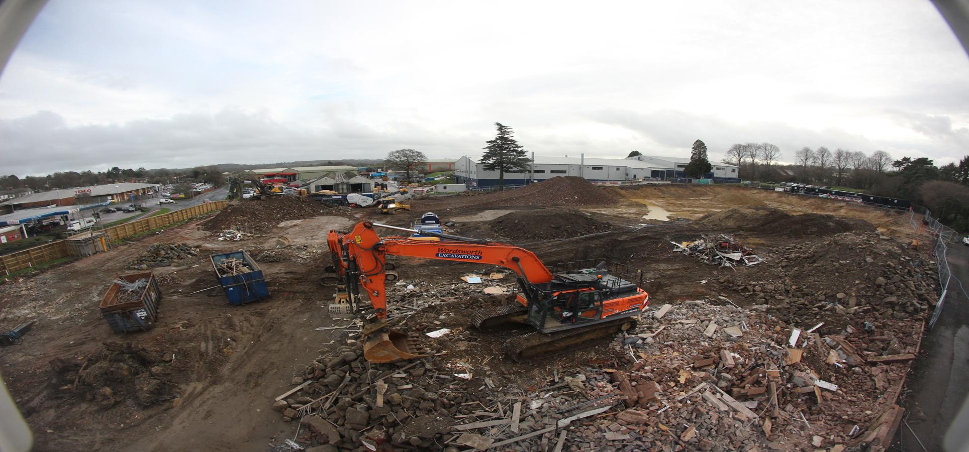 Works commence at Chard, Jessops Construction Ltd