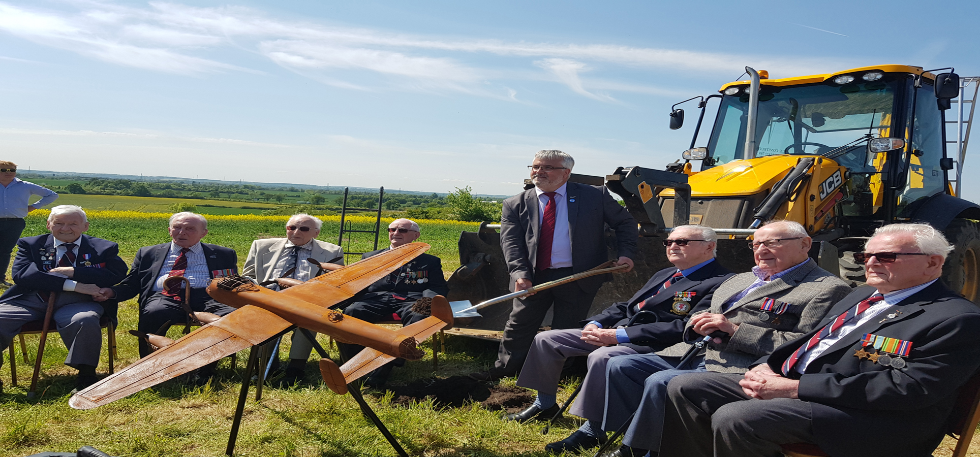 Jessops and BSP on board with Lancaster Bomber sculpture, Jessops Construction Ltd